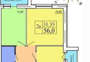 фотография - Продам 2-к квартиру по выгодной цене 1м2 - 10500 грн.